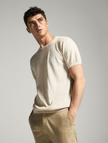 SWEATER WITH CONTRASTING STRIPE