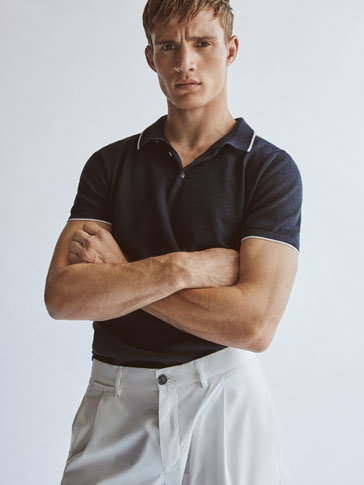 JERSEY POLO NECK SHORT SLEEVE ORGANIC COTTON