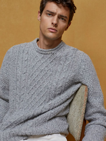 LIMITED EDITION WOOL/CASHMERE CABLEKNIT SWEATER