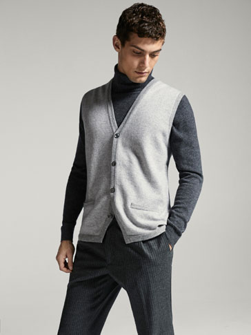 LIMITED EDITION WOOL/CASHMERE JACQUARD WAISTCOAT
