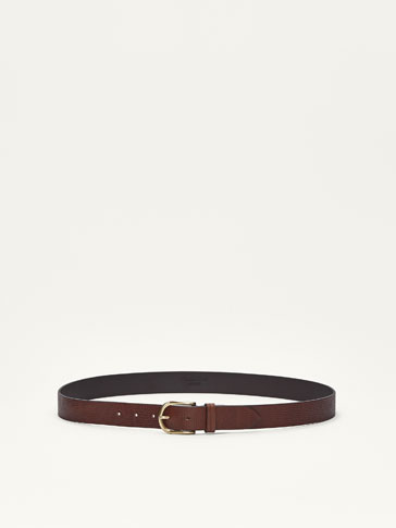 EMBOSSED NAPPA BELT
