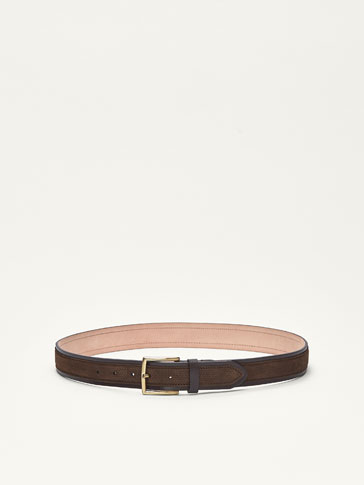 CENTRAL SPLIT SUEDE LEATHER BELT