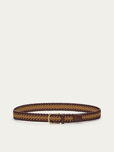 BRAIDED BELT WITH CONTRASTING CENTRAL CORD