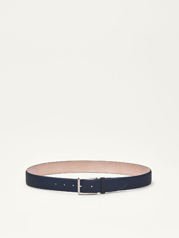 LEATHER BELT WITH DIE-CUT DETAIL