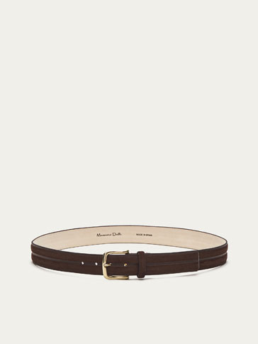 RIDGED SPLIT SUEDE BELT