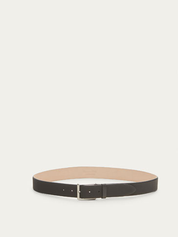 RUBBERISED LEATHER BELT WITH EMBOSSED DETAIL
