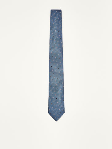POLKA DOT SILK/COTTON TIE