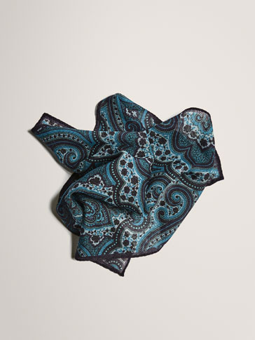 LIMITED EDITION PAISLEY WOOL POCKET SQUARE