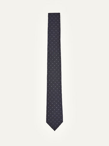 COTTON/SILK POLKA DOT TIE