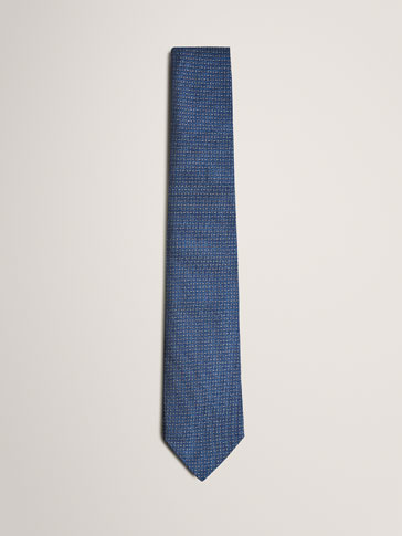 LIMITED EDITION SILK TIE WITH TEXTURED WEAVE