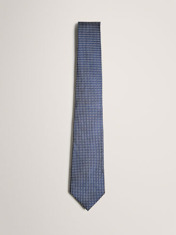 LIMITED EDITION SILK TIE WITH MICROPATTERN
