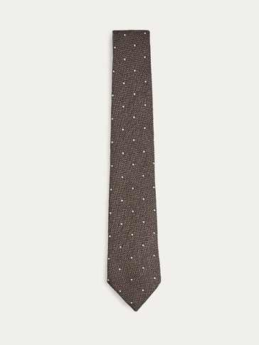 POLKA DOT WOOL/SILK TIE