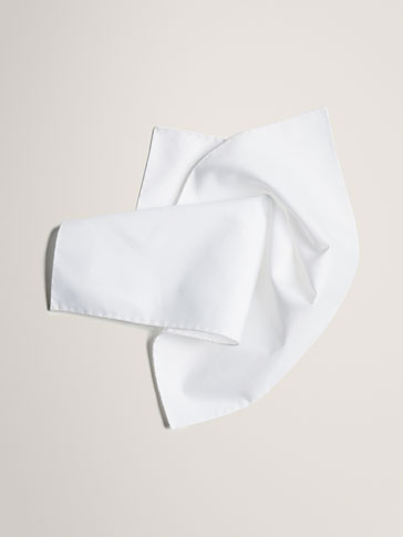 PERSONAL TAILORING WHITE POCKET SQUARE