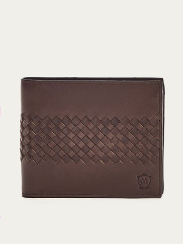 CARTERA TRENZADA MARRON