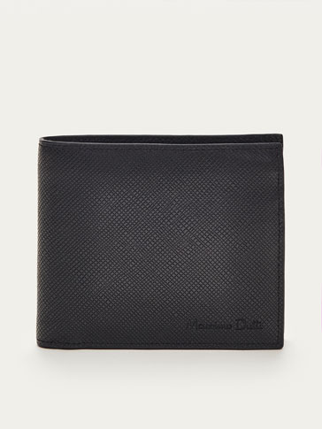 GEOMETRIC PRINT LEATHER WALLET