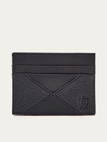 NAPPA LEATHER MAGIC WALLET CARD HOLDER WITH CONTRASTING DETAIL