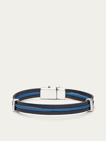 PULSERA TRIPLE+BLUE CORD