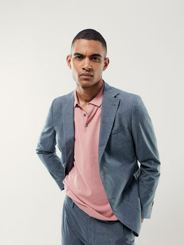 SLIM FIT PLAIN COTTON BLAZER