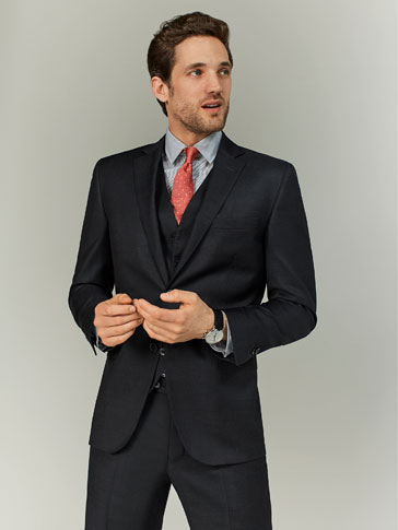 FIL À FIL WOOL SLIM FIT BLAZER