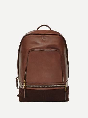 BACK PACK BROWN SUEDE