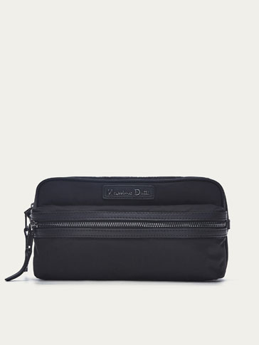 TECHNICAL LEATHER TOILETRY BAG