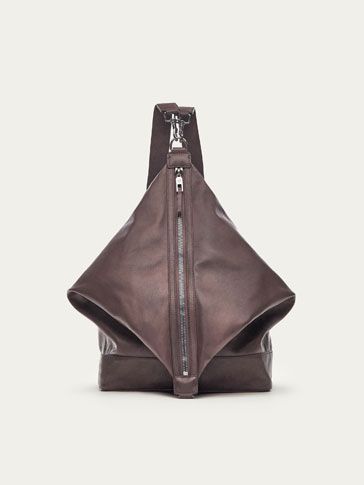 LIMITED EDITION SOLID-COLOURED EASY-LOAD LEATHER BACKPACK