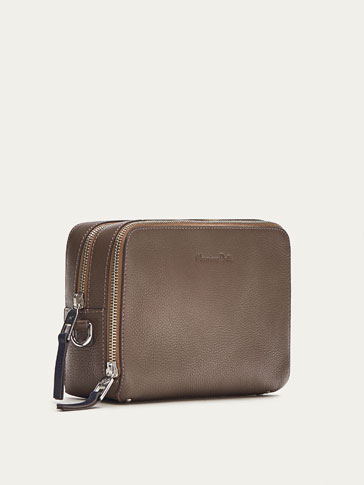 LIMITED EDITION EMBOSSED LEATHER TOILETRY BAG