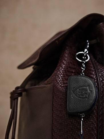 LIMITED EDITION EMBOSSED LEATHER KEYCHAIN-PURSE