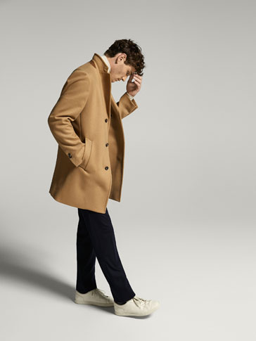 CASHMERE/WOOL CAMEL COAT