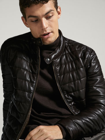 REVERSIBLE NAPPA LEATHER/TECHNICAL JACKET