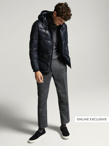 NAPPA/TECHNICAL THREE-QUARTER-LENGTH COAT WITH REMOVABLE DETAIL
