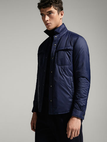 TECHNICAL NAVY OVERSHIRT