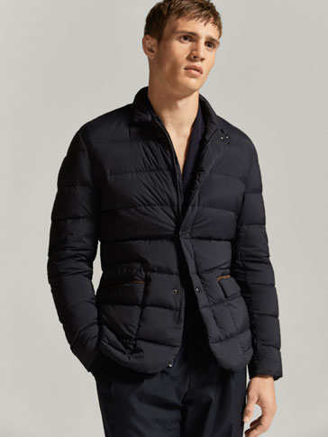 QUILTED TECHNICAL JACKET WITH CONTRASTING TRIMS