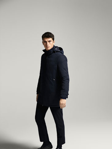 TECHNICAL TRENCH COAT WITH HOOD DETAIL