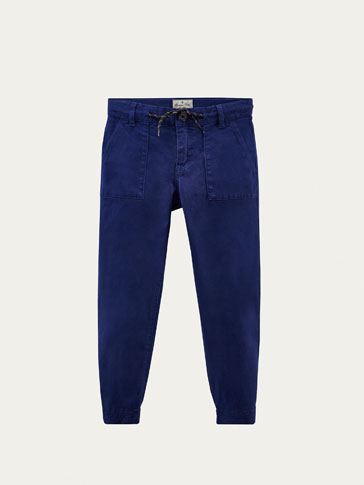 BLUE JOGGING FIT TROUSERS