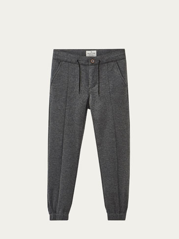JOGGING FIT WOOL TROUSERS