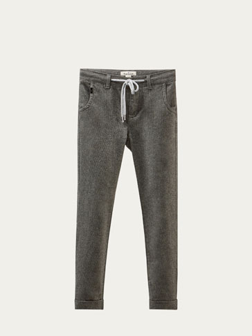 TWO-TONE JOGGING FIT TROUSERS