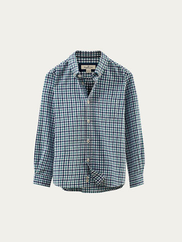 CHECKED SHIRT WITH ELBOW PATCH DETAIL