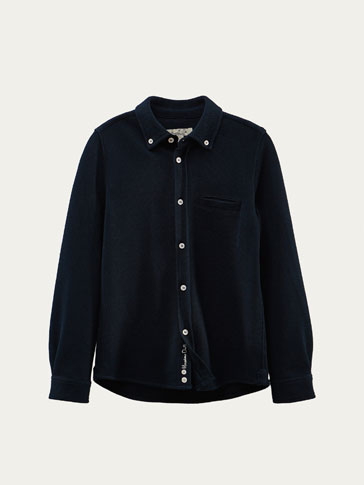 PIQUÉ SHIRT WITH POCKET DETAIL