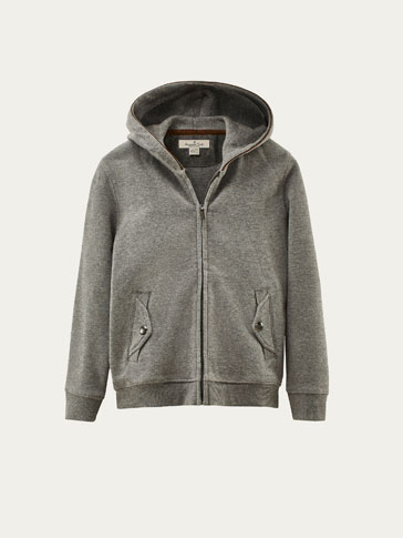 SWEATSHIRT WITH CONTRASTING TRIMS