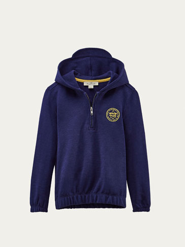 SWEATSHIRT WITH CONTRASTING DETAIL