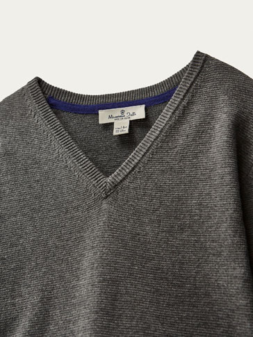 SOLID-COLOURED SWEATER WITH ELBOW PATCHES