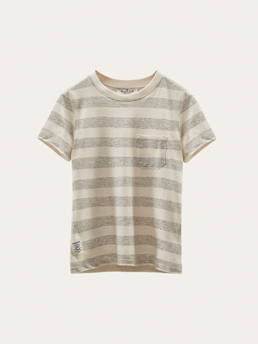 STRIPED FLECKED T-SHIRT