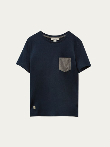 PIQUÉ T-SHIRT WITH CONTRASTING DETAIL