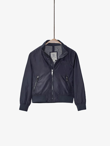 BOMBER-STYLE JACKET WITH BAG DETAIL