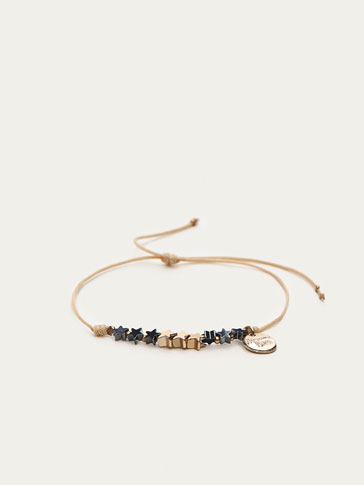 BRACELET WITH MOON AND STAR DETAILS
