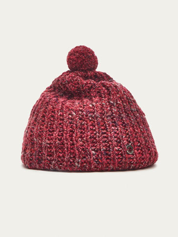 PINK HAT WITH POMPOM DETAIL