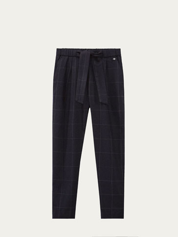 CHECKED JOGGING FIT TROUSERS