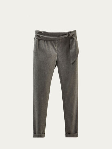 LIMITED EDITION TROUSERS WITH FRONT DETAIL