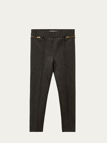 LEGGING-STYLE TROUSERS WITH ZIPS
